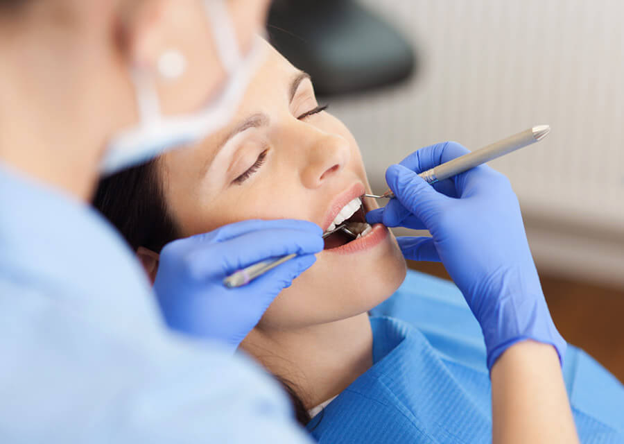 Dental patient relaxing